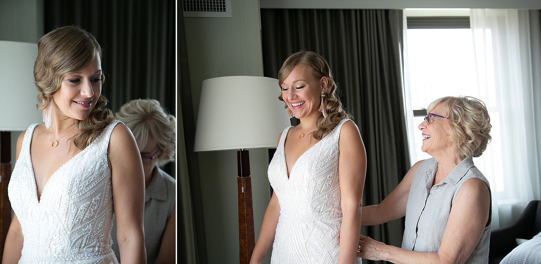 bride prepares for Detroit wedding day photographed by Katrina Cross Photography