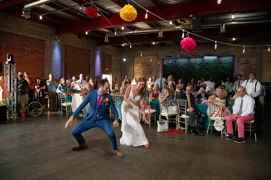 fun first dance photographed by Katrina Cross Photography in Detroit MI