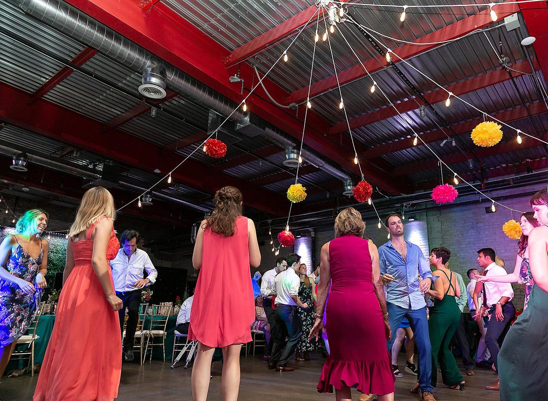 reception dancing photographed by Detroit MI wedding photographer Katrina Cross Photography